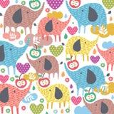 Słoń miłości ilustracja Fotografia Stock