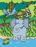 słoń przejażdżka Fotografia Royalty Free