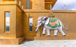 Słoń przy Buddha Dordenma, Thimphu, Bhutan Obraz Royalty Free