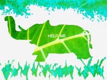 słoń save Zdjęcie Royalty Free