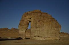 Słoń skała, Hejaz teren, Arabia Saudyjska obrazy stock