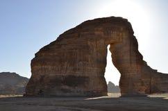 Słoń skała, Lokalizować na Hejaz terenie, Madinah prowincja Arabia Saudyjska obraz stock