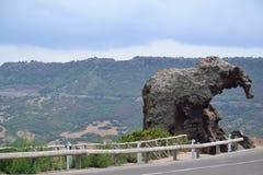 Słoń skała w Sardinia, Włochy fotografia stock