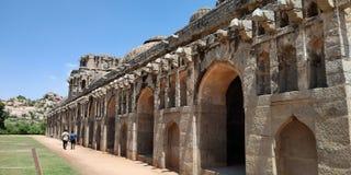 Słoń stajenka - Hampi, Karnataka zdjęcia royalty free