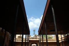 Słoń stajenka wokoło Amer Złocistego fortu w Jaipur zdjęcie royalty free