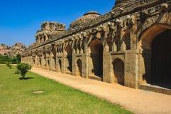Słoń stajenki, Królewski Centre, Hampi, Karnataka, India Zdjęcia Stock
