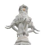 Słoń statua odizolowywająca zdjęcia royalty free