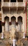 Słoń statua przy miasto pałac, pałac kompleks w Jaipur Obraz Stock