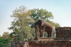 Słoń statua w Wschodniej Mebon świątyni, Kambodża Zdjęcia Royalty Free