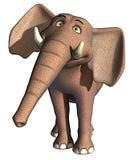 słoń szczęśliwy royalty ilustracja