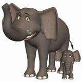 słoń Toon ilustracji