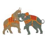 Słoń walczy vector.EPS10 Zdjęcia Stock