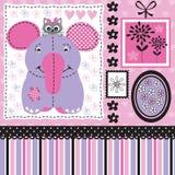 Słoń z kot ilustracją Obraz Royalty Free