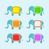 Słoń z Małą ramą ilustracja wektor
