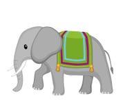 Słoń zakrywający z koc Kreskówki śliczna ilustracja ilustracja wektor
