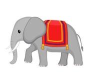 Słoń zakrywający z koc Kreskówki śliczna ilustracja ilustracji