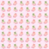 słońc łóżka nad różowym tłem Wakacje jedli dennej strony pojęcie Fotografia Royalty Free