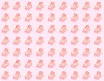 słońc łóżka nad różowym tłem Wakacje jedli dennej strony pojęcie zdjęcie stock