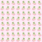 słońc łóżka nad różowym tłem Wakacje jedli dennej strony pojęcie zdjęcia royalty free