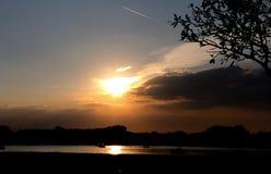 Słońca światło 108 i niebo Obrazy Royalty Free