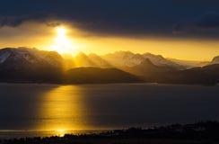 Słońca świecenie Zdjęcia Stock