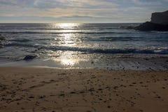 Słońca świecenie na wodzie obraz royalty free