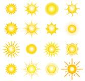 Słońca Obrazy Royalty Free
