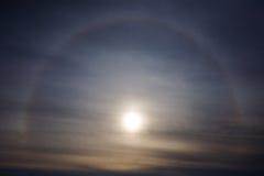 Słońca halo korona słoneczna Zdjęcia Stock