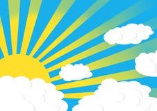 Słońca i chmury ilustracja ilustracja wektor
