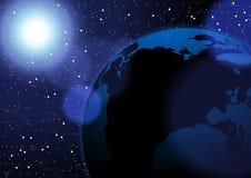 Słońca i ziemi wektorowej przestrzeni tło niektóre elementy ten wizerunek meblujący NASA Zdjęcie Royalty Free