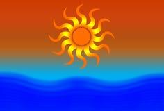słońca na plaży Obrazy Stock