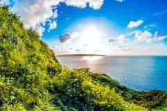 Słońca nieba chmury i morze Zdjęcia Royalty Free