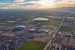 Słońca położenie na Glendale, Arizona obrazy stock