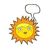 słońca postać z kreskówki z mowa bąblem Zdjęcie Stock