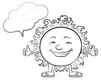 Słońca Smiley kontury Obrazy Stock
