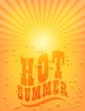Słońca Sunburst wzór. Gorący lato Obraz Royalty Free