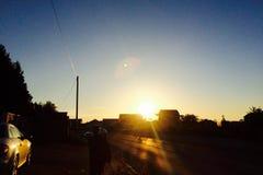 Słońca ustalony światło słoneczne Obrazy Royalty Free
