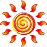 Słońca vortex Zdjęcia Royalty Free