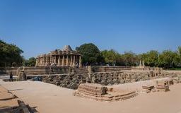 Słońce Świątynny Modhera z Stepwell w Ahmedabad Obrazy Stock