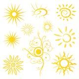 Słońce, światło słoneczne, lato Obrazy Royalty Free