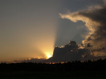 słońce świateł mijania obrazy royalty free