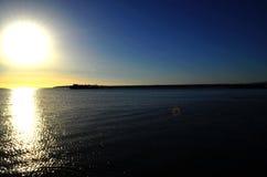 Słońce, świt, morze, wakacje w Egipt fotografia stock