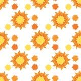 Słońce abstrakcjonistyczny bezszwowy wzór Obrazy Stock