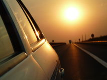 Słońce autostrada Obraz Royalty Free