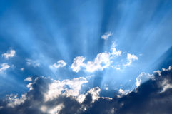 Słońce behind Fotografia Stock