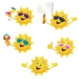 Słońce charakter - set ilustracja wektor