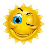 Słońce charakteru mrugać Fotografia Royalty Free