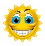 Słońce charakteru ono uśmiecha się Obrazy Royalty Free