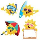 Słońce charaktery royalty ilustracja