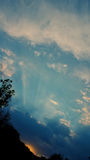 Słońce chmur i promieni zmierzch Zdjęcie Stock